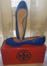 Tory Burch Jelly blue Powder Coated Melinda Ballet Flat US 10