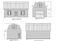 18'X30' GAMBREL ROOF GARAGE PLAN ROOF GAMBREL BLUEPRINT PLAN #18-1830GMB-5