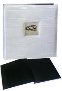 Wedding Silk white drymount photo album 29x31cm, 50 black pages