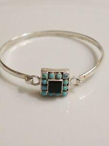Turquoise Onyx Sterling Bracelet