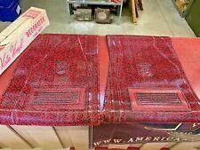 1960 's 70 's VINTAGE FANCY UNIQUE HARTE & CO., VINYL FRONT FLOOR MAT RED BLACK
