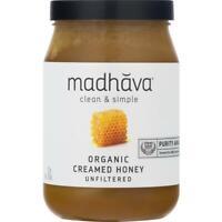 Madhava Organic Creamed Honey, 22 oz