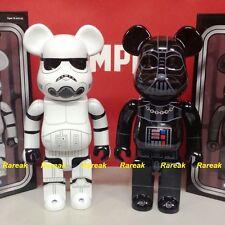 Medicom Be@rbrick Star Wars 400% Stormtrooper & Darth Vader Chrome Bearbrick 2pc