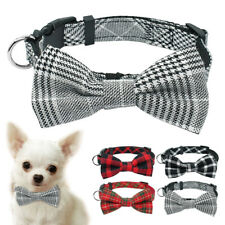 Bow Tie Dog Collar with D-ring Soft for Small Pet Puppy Cat Chihuahua Yorkie S M