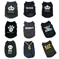 Summer Pet Dog Cat Clothes Cartoon Print Small Dog Vest Breathable Puppy T-Shirt