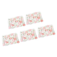 5 Pack Romantic Artificial Rose Flower Wall Panel For Wedding Pink & White