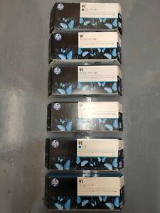 Genuine HP 91 ink cartridges for HP Designjet Z6100 - VAT inc - FREE UK DELIVERY