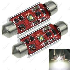 2X 39MM 38MM 6411 1 Cree LED Interior Festoon Light Canbus Error Free Car ZI222