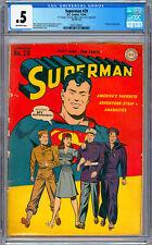 SUPERMAN #29 CGC 0.5 WWII US ARMED SERVICES CVR WAYNE BORING ART PRANKSTER 1944