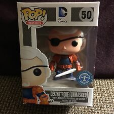 FUNKO POP DC DEATHSTROKE UNMASKED #50 EXCLUSIVE VHTF R2S USA SELLER