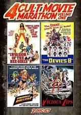 4 Cult Movie Marathon, Vol. 1 (DVD, 2013, 2-Disc Set)