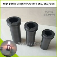 High purity Graphite Crucible 1KG/2KG/3K Melting Metal Gold Silver Scrap Casting