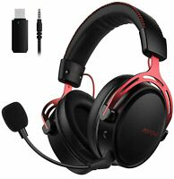 Mpow 2.4G Wireless Gaming Headset 3.5mm Wired Headphones For PC Laptop PS4 Win10