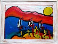 PETER Robert KEIL >Starnberger-See< HAND-SIGNIERT, dat. `75, 83x63, Öl + Rahmen