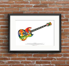 Eric Clapton's Gibson SG Fool Guitar ART POSTER A2 size