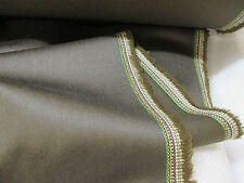 Finest Chocolate Brown English Wool & Silk Blend Upholstery/Curtain Fabric.