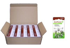 ZeniPower Hearing Aid Batteries Size 312, 50 x 6 Dial Cards = 300 Batteries