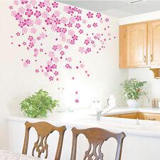 Pink Flower Blossom Wall Decal Art Sticker Girls Bedroom Nursery DIY Mural Gift