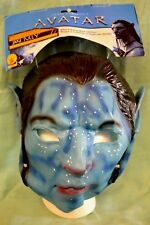 NEW Halloween AVATAR Jake SULLY Adult MASK Blue 3/4 VINYL with EARS Rubies 2010