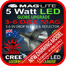 MAGLITE LED UPGRADE 3-6 CD BULB GLOBE for TORCH FLASHLIGHT 3.6-9V 800lm DIMMABLE