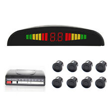 Wired LED Display Car Parking System with 4 Front Sensors and 4 Back Sensors