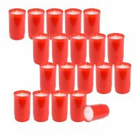 20 Stück  Premium St.Jacob Grablichter Grabkerze  Kompositions Öl-Lichter, Rot