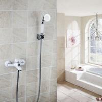 White Painting Shower Faucet Bathroom Bathtub Sink & Hand Shower Spray Mixer Tap
