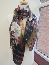 d50ef83b0474 NEW!!!100% Silk Ted Baker Technicolour Bloom long silk Scarf - BEAUTIFUL