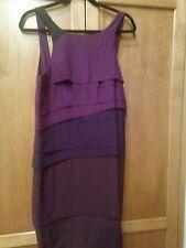 Vena Cava SZ 8 Taj Dress Shades of Purple Tiers 100% Silk Shift
