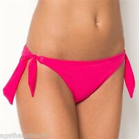 RESORT Bikini Bottoms Hot Pink Wide Tie Sides Swimwear  NEW  DK502