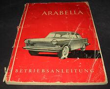 Betriebsanleitung Handbuch Lloyd Arabella Stand Juli 1960 Bedienungsanleitung