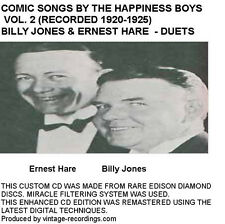 The Happiness Boys Billy Jones & Ernest Hare Comic Jazz Duets -Vol 2 - New CD