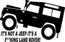 Matt Black Fun Land Rover Td5 Defender 4x4 off Road Sticker #3