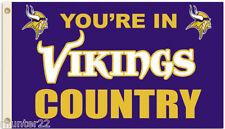 Minnesota Vikings Huge 3'x5' Nfl Licensed Country Flag!