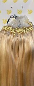 MONGOLIAN DOUBLE DRAWN 18'' #60 MICRO RING DOUBLE LOOP 1G  HUMAN HAIR EXTENSIONS