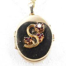 Tolles Medaillon Gold Double mit Granat und Perlen #2
