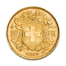 Gold Vreneli 20 Schweizer Franken Schweiz 1897-1949 Verschiedene Jahrgänge