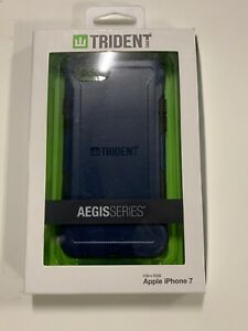 Apple iPhone 7 iPhone 8 Blue New In Box AFC Trident Aegis Case Free Shipping