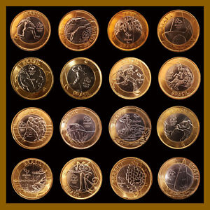 Brazil 1 Real 2016, (16 Pcs Full Coin Set) RIO OLYMPIC GAMES Uncirculated