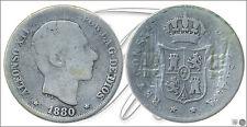España - Monedas centenario- Año: 1880 - numero 00049 - 10 centavos de peso 1880