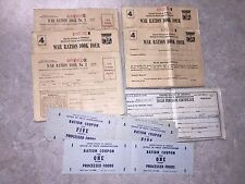 Vintage 1943 World War II Ration Books / Coupons for Points / Sugar Certificate