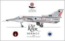 IAI K-Fir C-2 - 101st First Fighter Sq. IAF Israel Air Force - Poster Profile