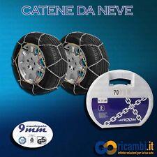 CATENE DA NEVE SPESSORE 9mm PER MISURA CERCHIO 215 65 R16 MARCA WROOM
