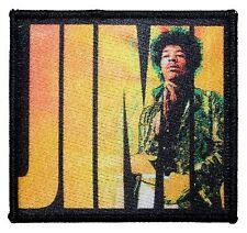 """""""JIMI"""" Hendrix Art Guitar Legend Portrait Rock Music Iron On Applique Patch"""