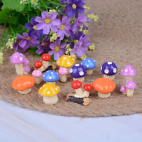 2Pcs DIY mini miniature fairy garden ornament decor mushroom house accessories3C
