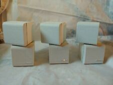 3-Bose Lifestyle Jewel Double Cube Speakers White w mounting hardware & wires