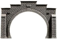 NOCH 34852 Spur N, Tunnel-Portal, 2-gleisig, 12,3 x 8,5 cm #NEU in OVP##