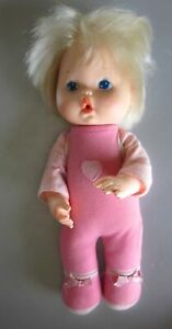 """Kenner Vintage 1980 Wipe Your Tears Pink Baby Doll 14"""" Squeaky Pivot Wrist Hand"""