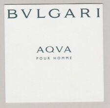 Carte  à parfumer    - perfume card  - Aqva Bvlgari