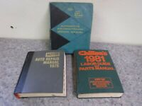 Lot of 3 Vintage 1970's & 80's Car Repair Book Manuals-Chilton-Air Conditioning+